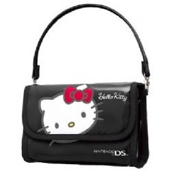 Nintendo DS series Hello Kitty console / accessory carry case - Black
